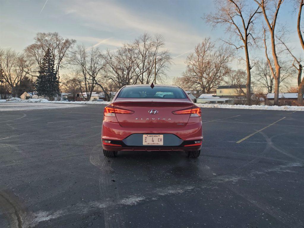 2020 Hyundai Elantra Red Rear