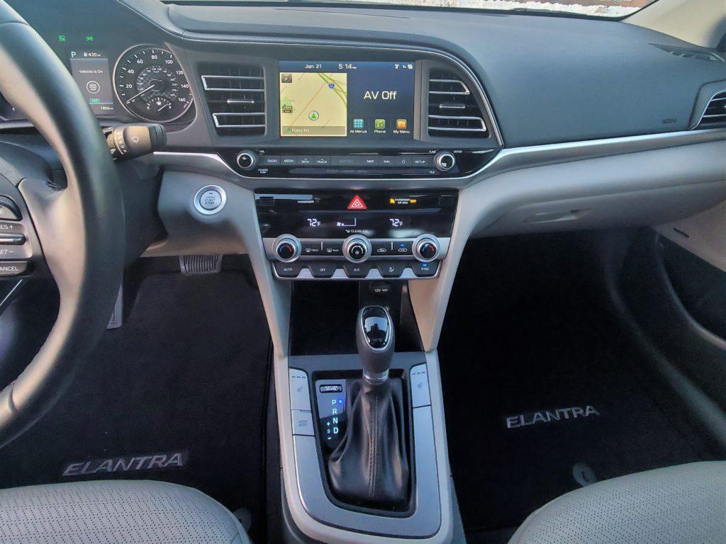 2020 Hyundai Elantra Center Stack