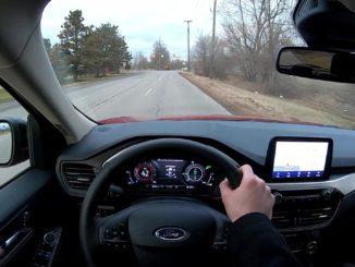 2020 Ford Escape Hybrid Driving