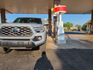 2020 toyota tacoma fuel station